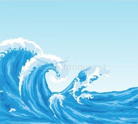 Waves clipart wave hawaii. Ocean background clip art