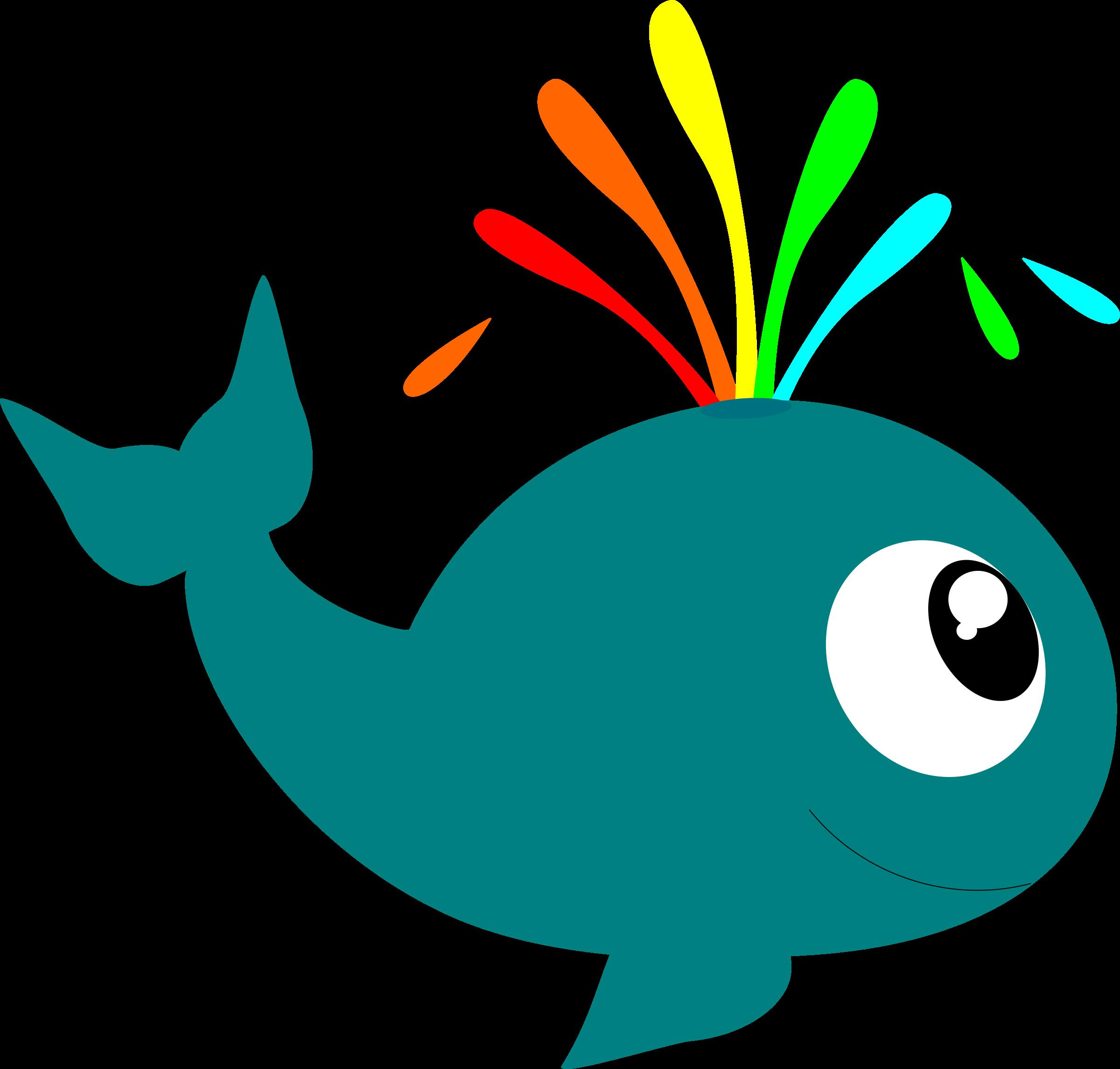 Aquatic animal deep sea. Clipart water whale