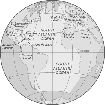 Clipart ocean atlantic ocean. Simple geography