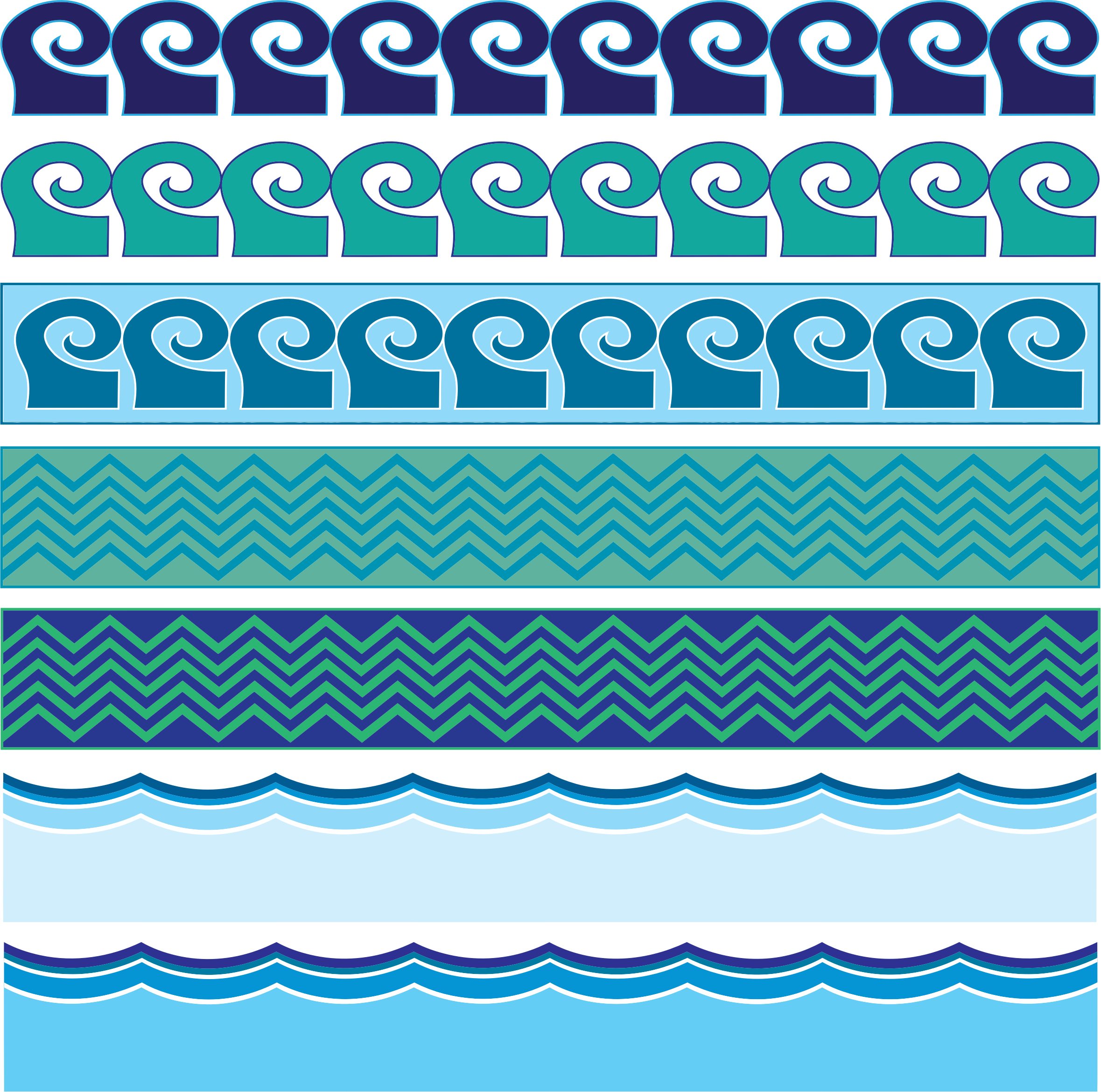 Waves clipart teal. Water patterns big image