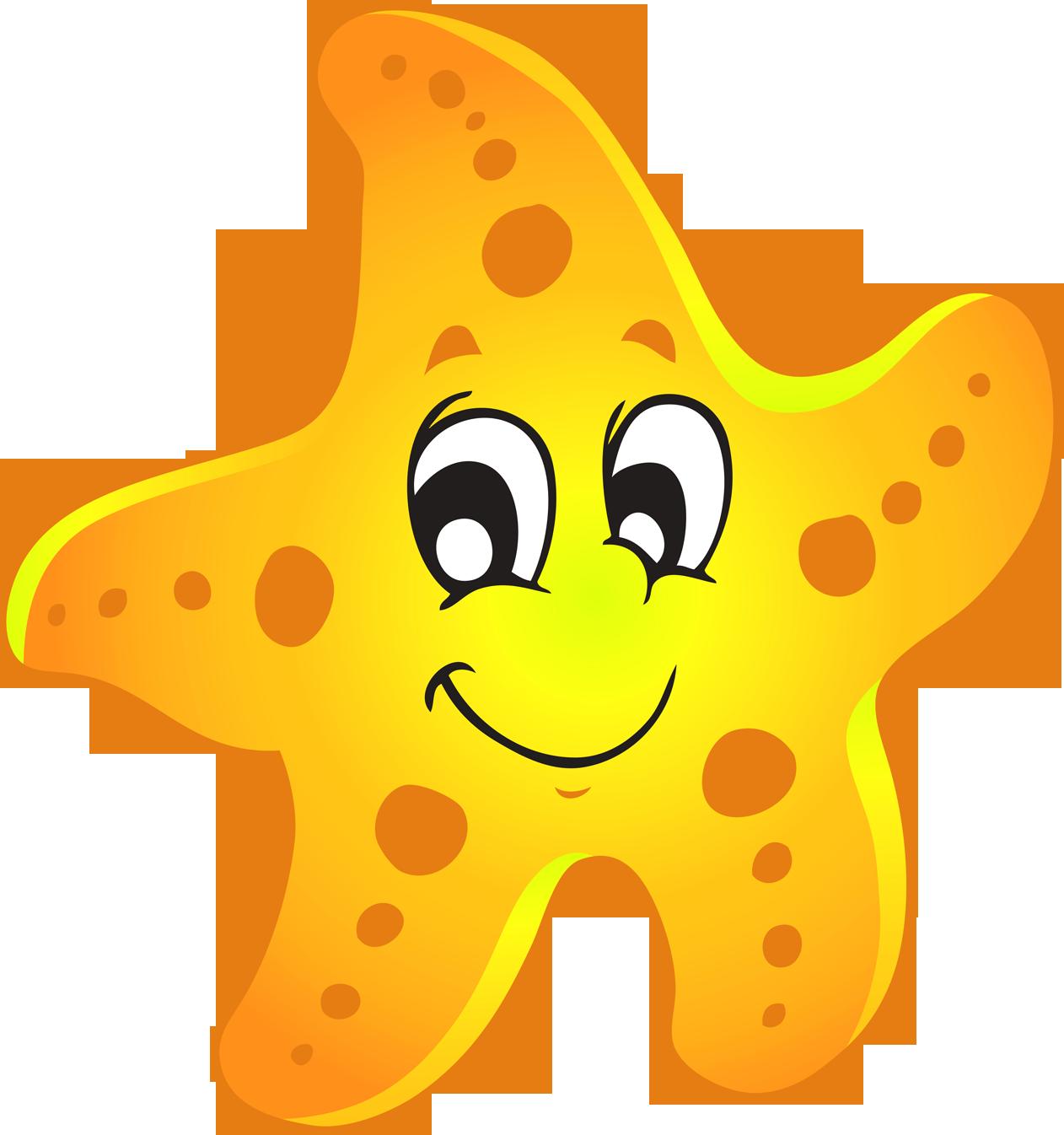 Sea star look at. Water clipart cartoon