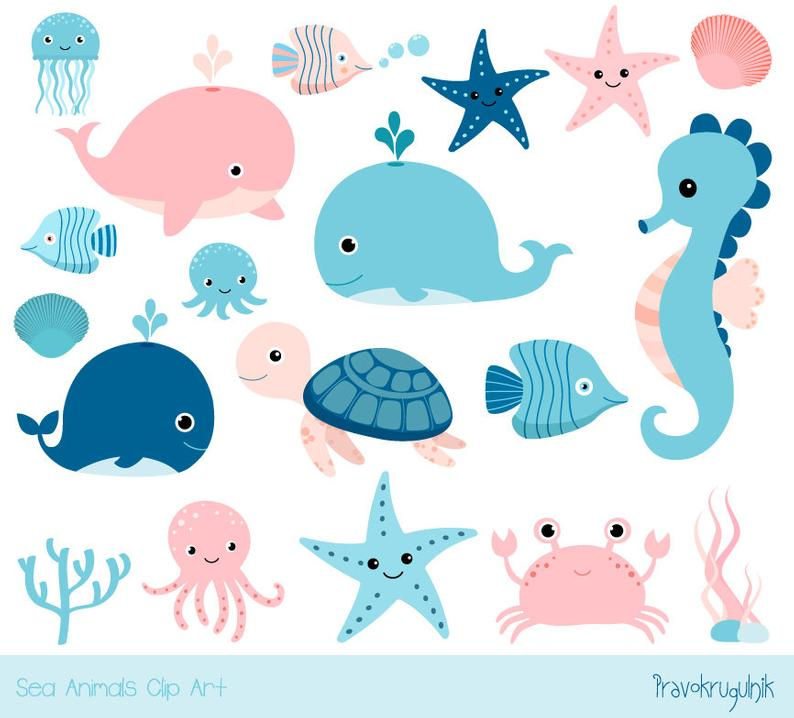 Crab clipart land water animal. Cute sea kawaii ocean