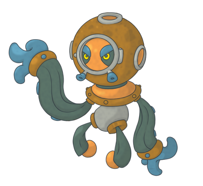 Deep sea diving by. Clipart octopus fake