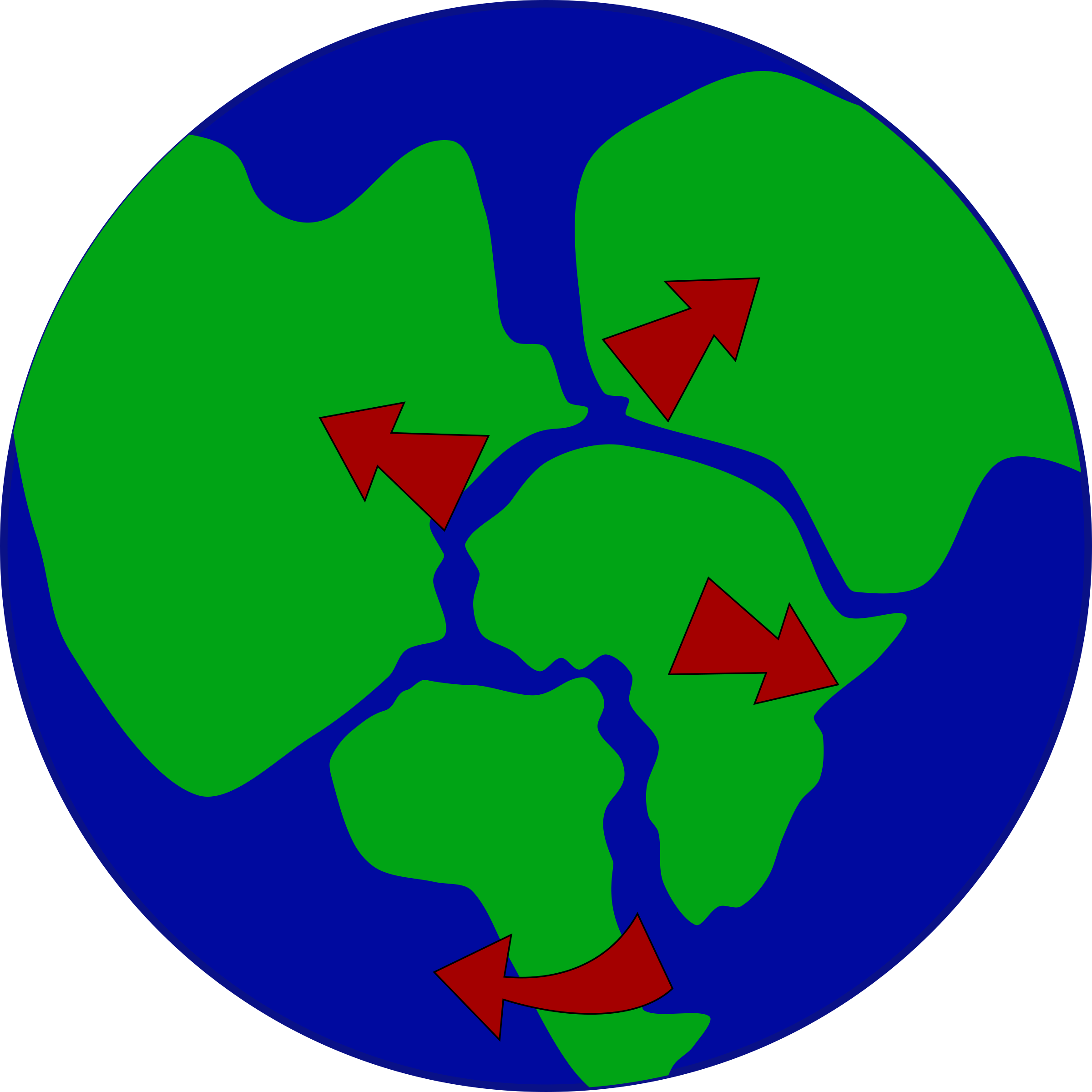 Clipart ocean flood. Earth with continents breaking