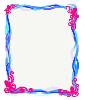 Theme frames and images. Ocean clipart frame