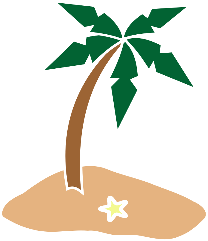 Hawaiian clipart palm tree. Island panda free images