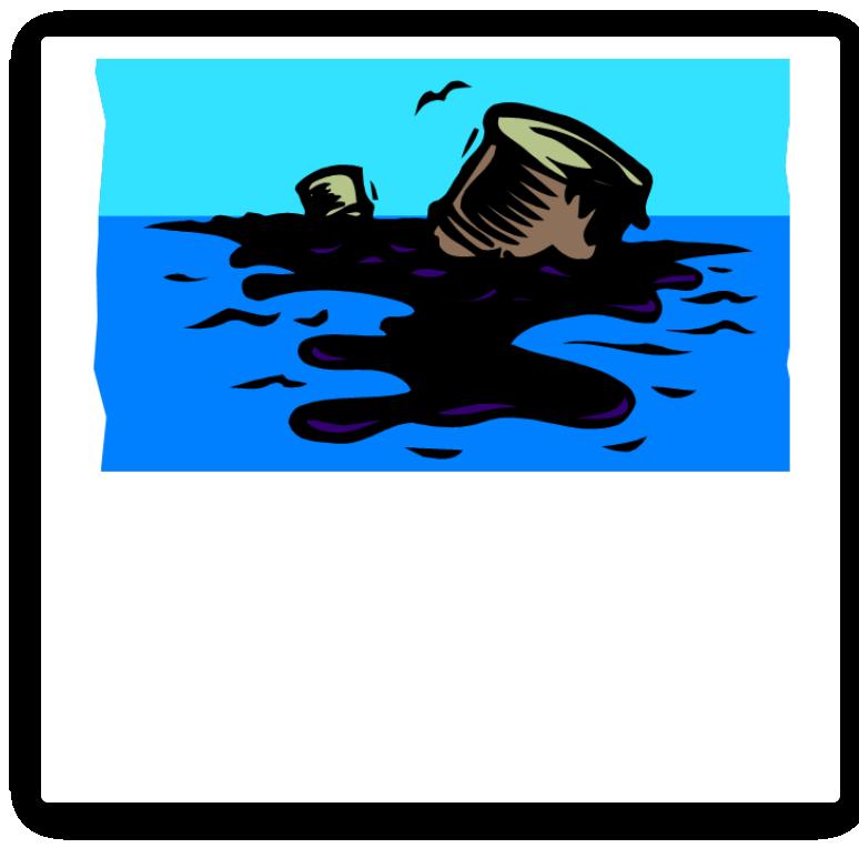 Oil spill the release. Clipart ocean land ocean