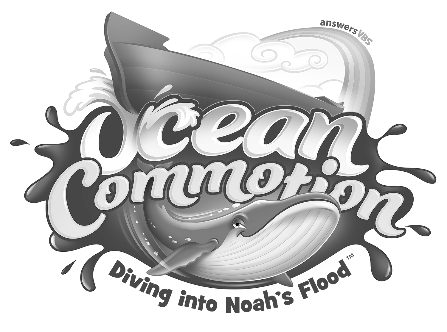 Clipart ocean logo. Commotion resources answers vbs