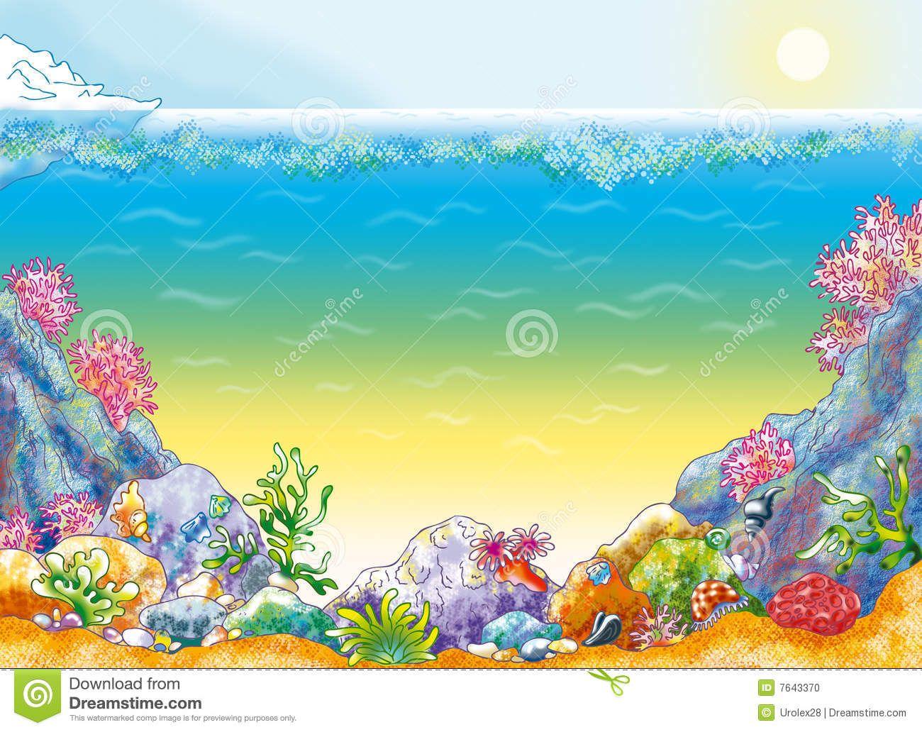 Clip art background . Ocean clipart ocean floor