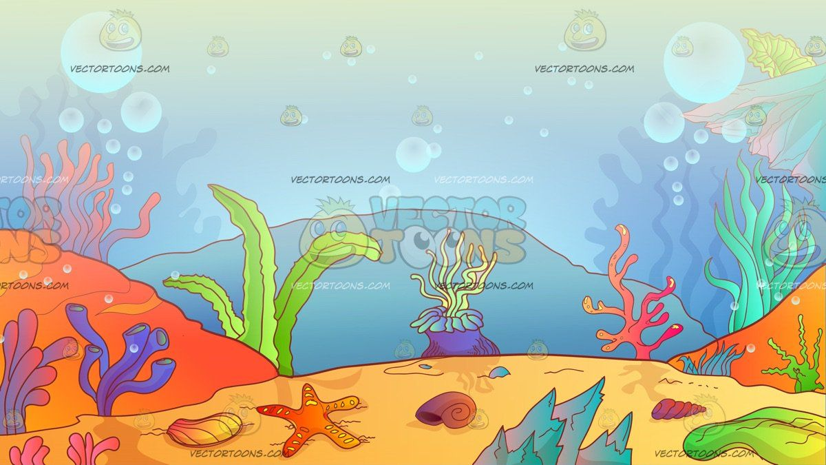 Coral reef background a. Ocean clipart ocean environment