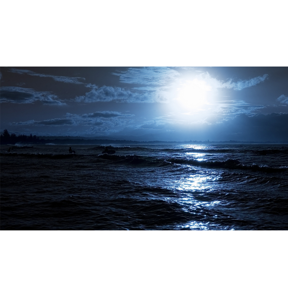 Clipart ocean ocean horizon. Moonlight glow k www