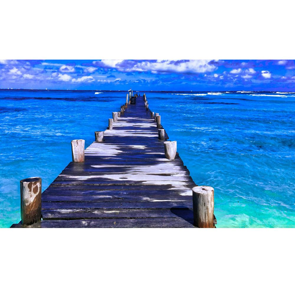 Clipart ocean ocean horizon. Blue pier k www