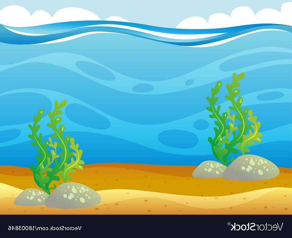 Clipart ocean ocean scene. Best cartoon underwater vector