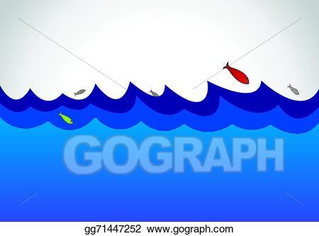 Clipart ocean ocean surface. Clip art vector blue