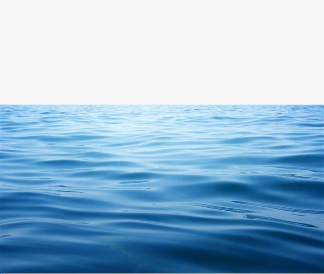 Aesthetic sea level blue. Clipart ocean ocean water