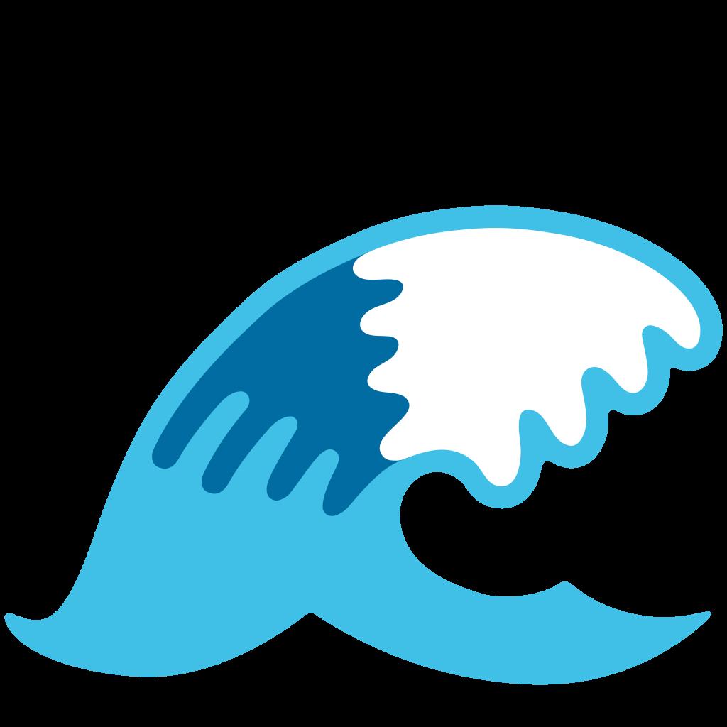Clipart wave file. Emoji u f a