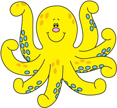 Clipart octopus yellow. Free kid the pink