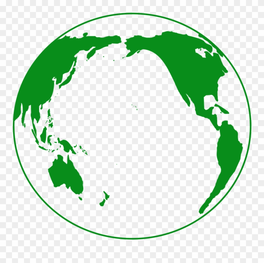 Travel earth green globe. Ocean clipart pacific