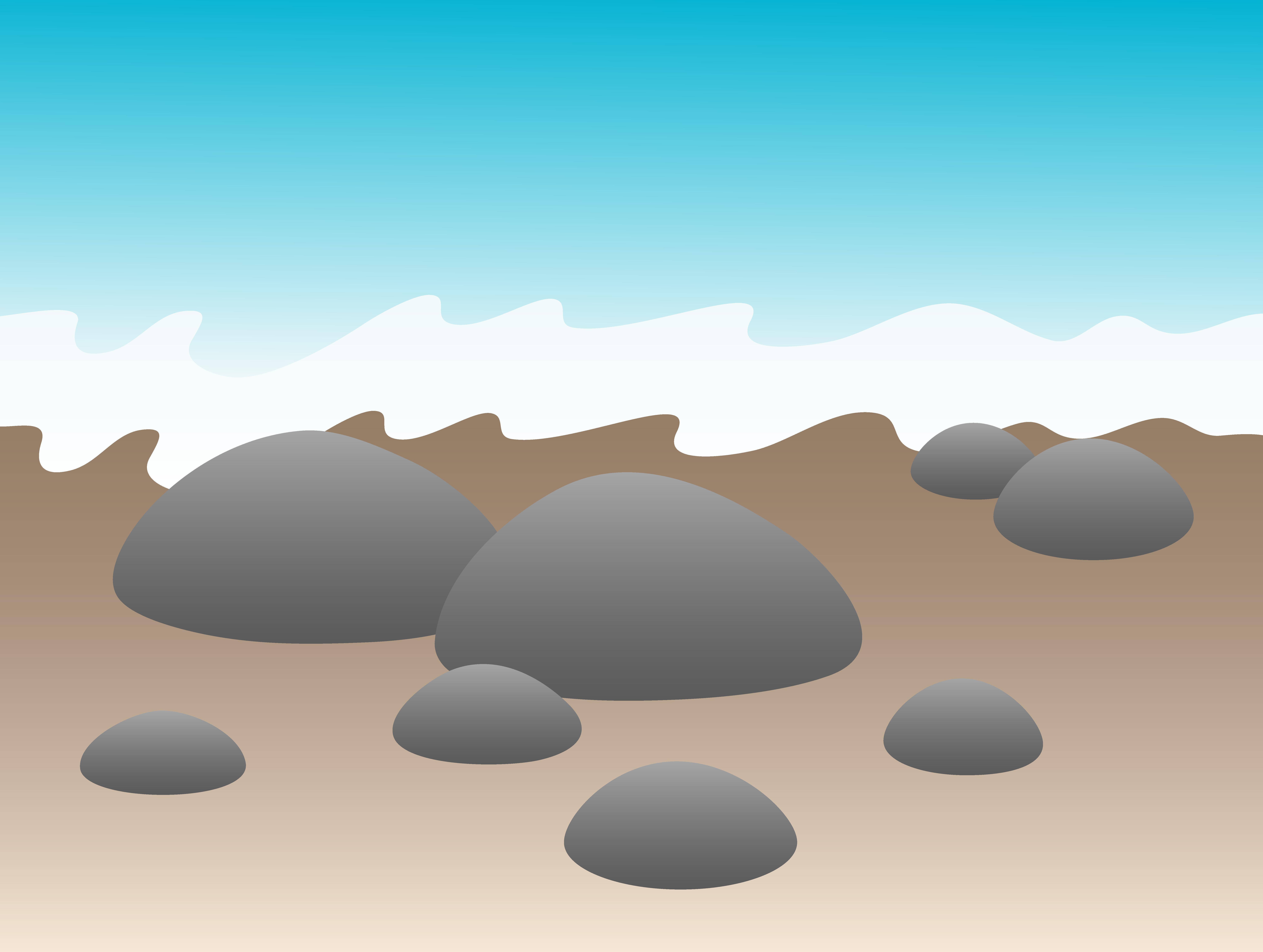 Ocean rocks clip art. Dirt clipart beach rock