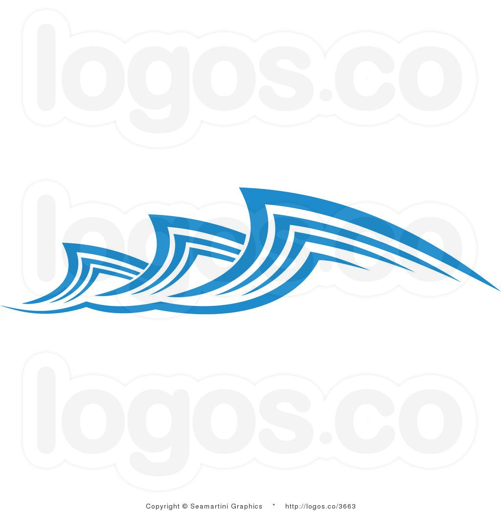 Simple water crafts for. Waves clipart wave design