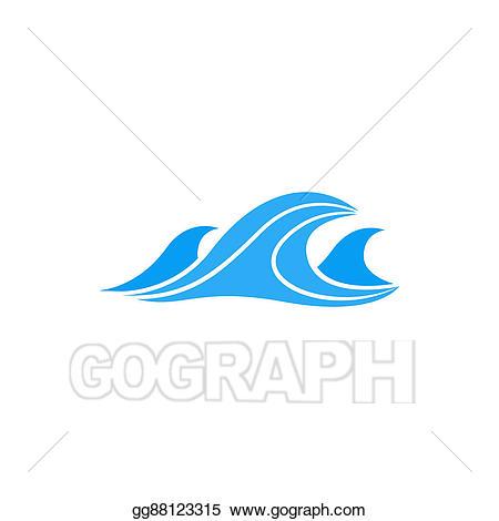 Ocean clipart simple. Stock illustration sea waves