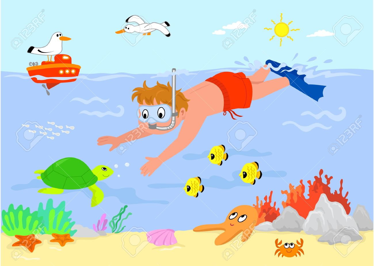 Free cliparts download clip. Ocean clipart swimming