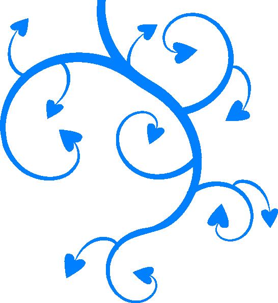 Clipart ocean swirl. Blue hearts swirls leaves