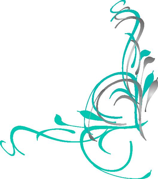 Floral swirls clip art. Swirl vector png