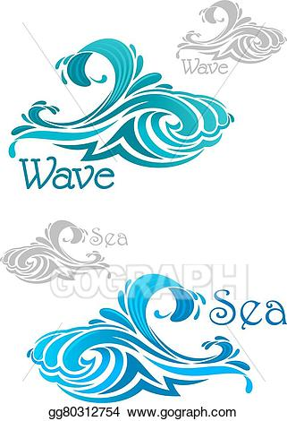 Waves clipart teal. Vector art blue and