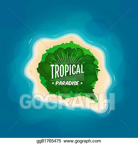 Clipart ocean top view. Vector illustration of a