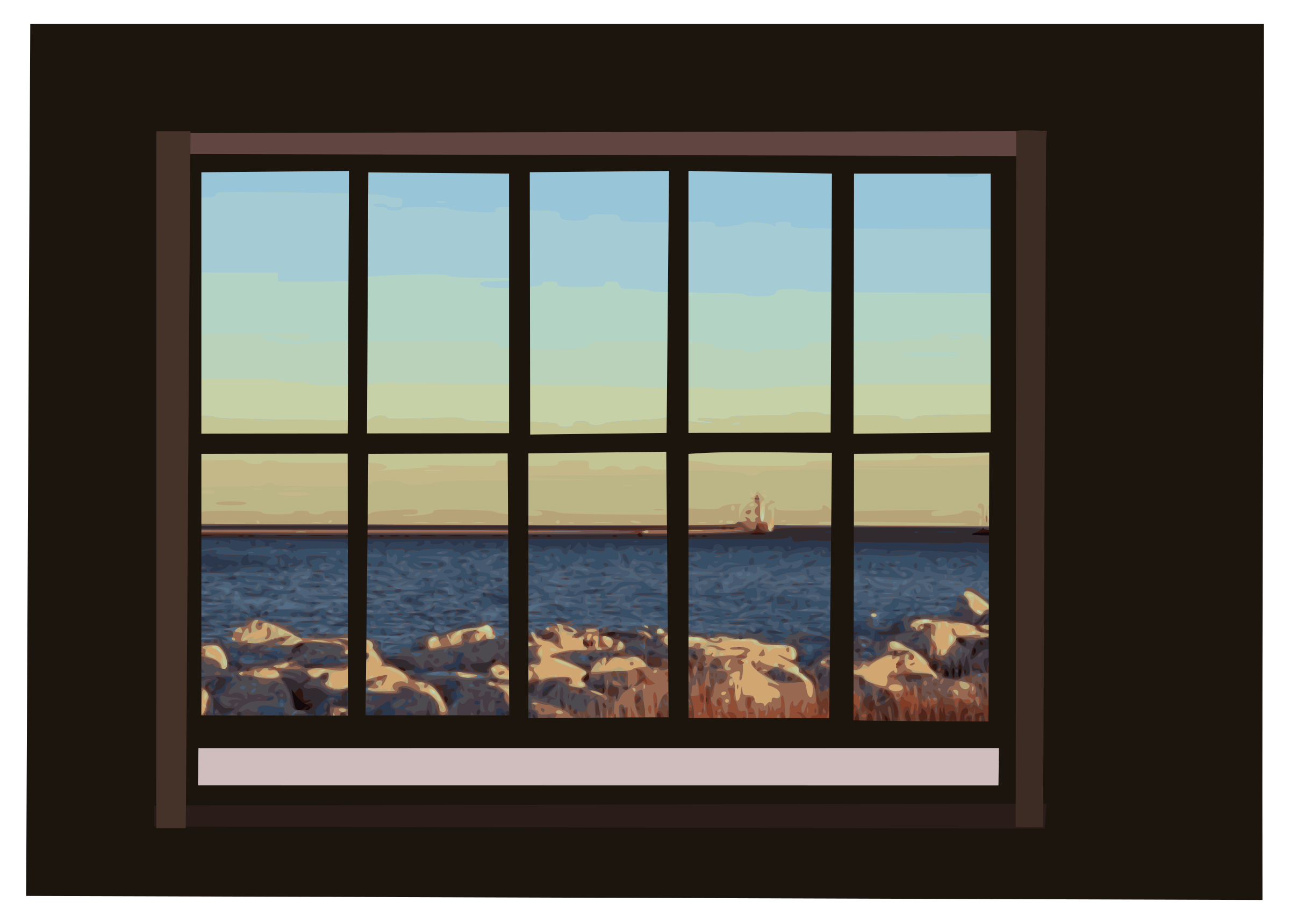 Window with icons png. Clipart ocean top view