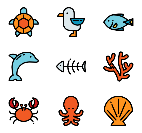 icon packs vector. Clipart ocean top view