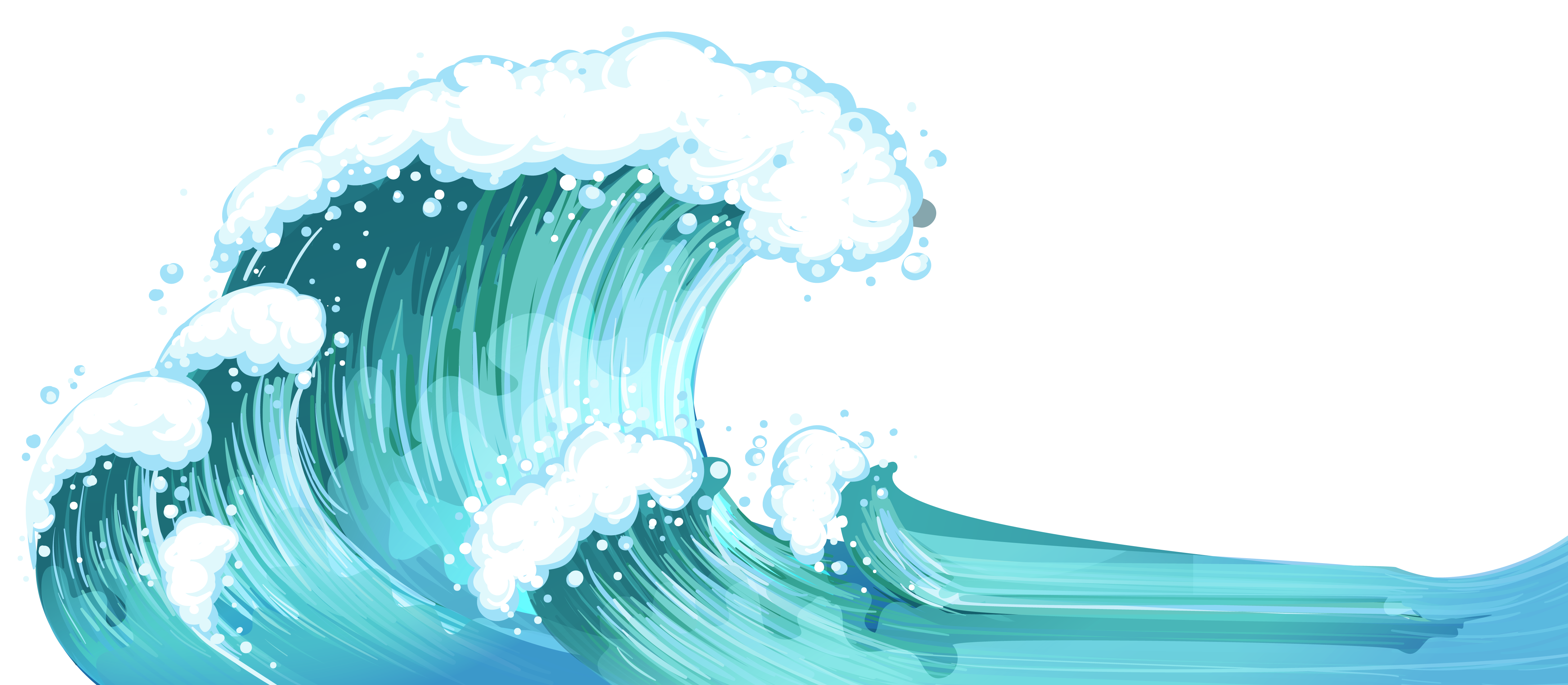 collection of sea. Waves clipart rolling wave