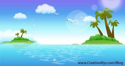 Free fresh beautiful islands. Clipart ocean tropical