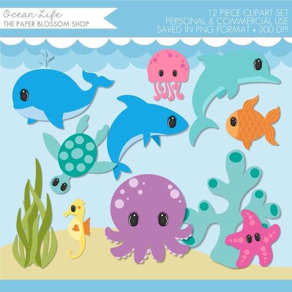 Animals the . Clipart ocean under sea
