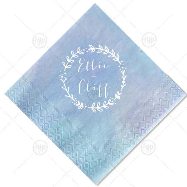 Custom cocktail napkins with. Clipart ocean watercolor
