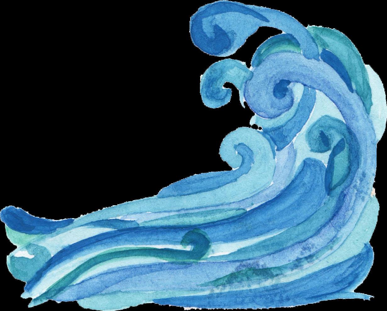 Ocean clipart watercolor.  wave png transparent