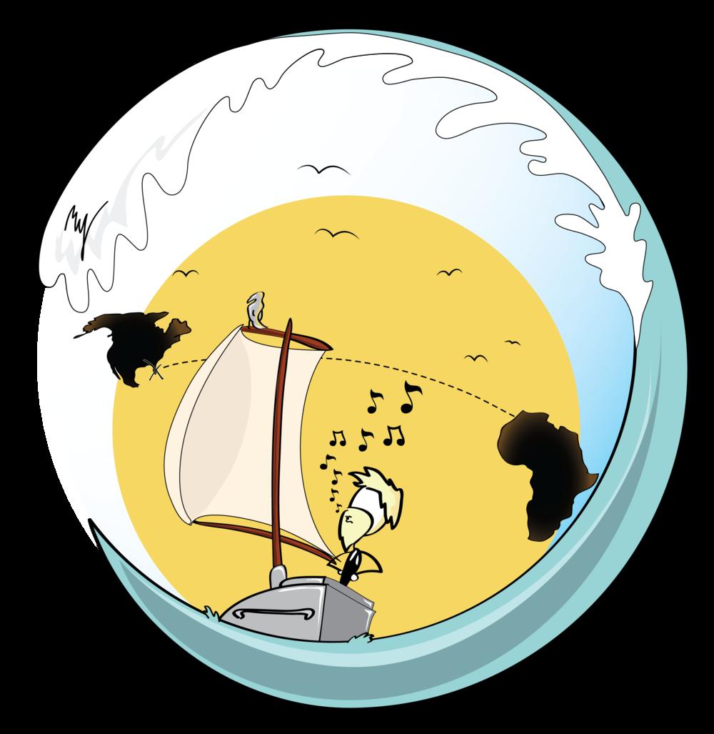 Undaunted specifications little boat. Clipart ocean waterline