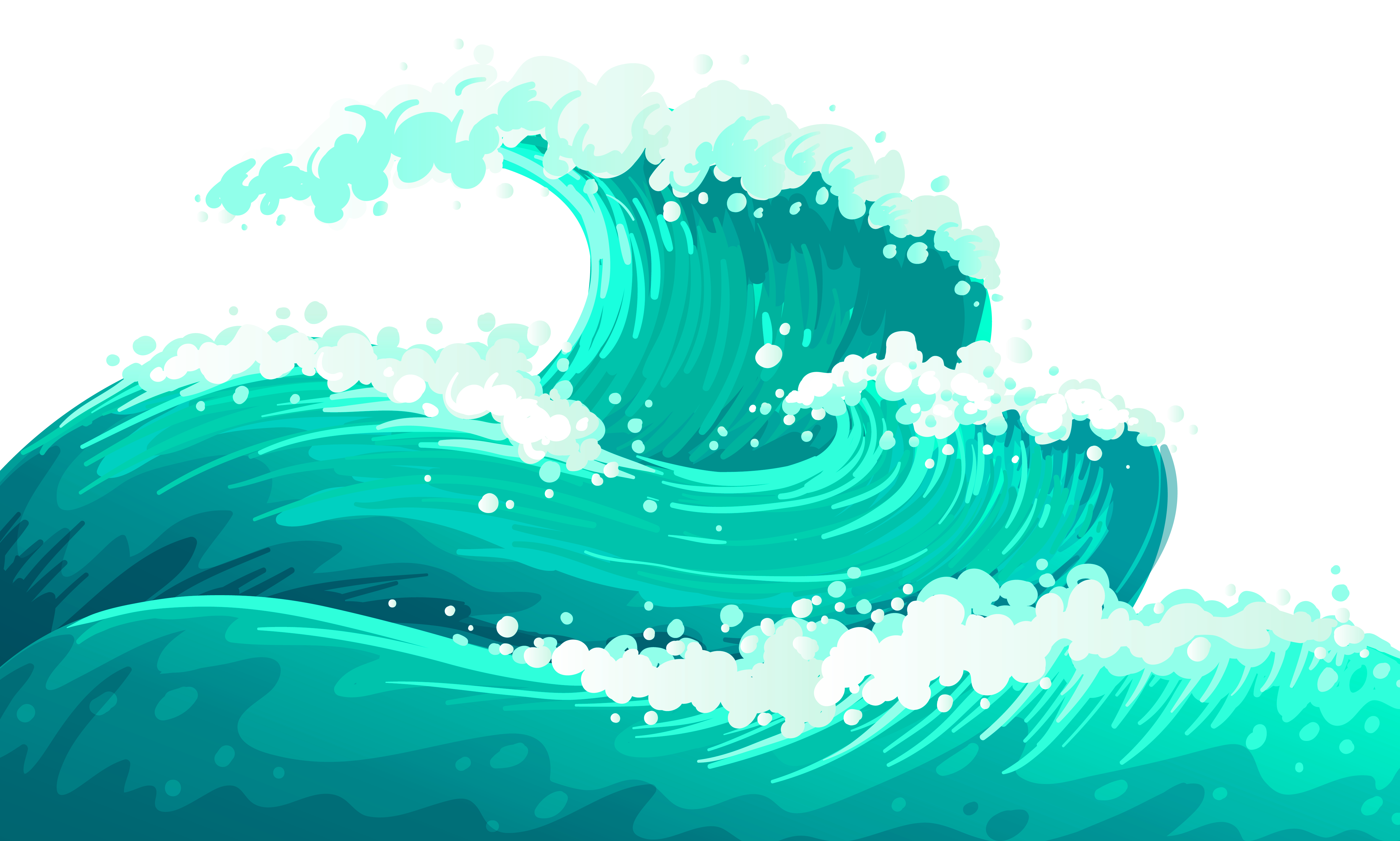 Waves clipart tidal wave. Wind dispersion clip art