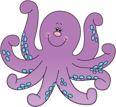 Image the pink studio. Clipart octopus