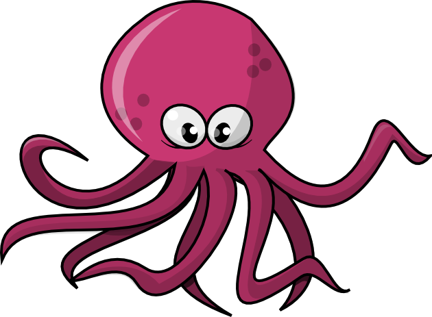 Clipart octopus. Panda free images