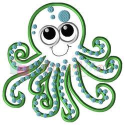 Octopus clipart applique. Embroidery design