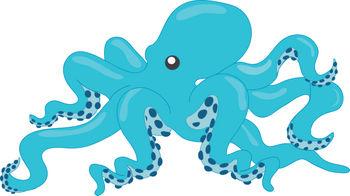 Clipart octopus aqua. Fans gclipart com