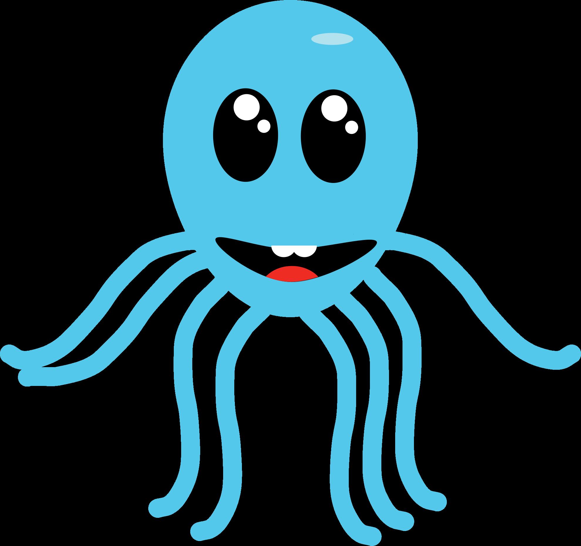 . Clipart octopus aqua