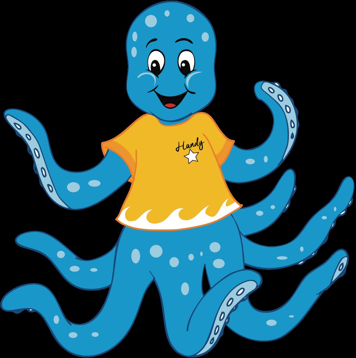 Clipart octopus aqua. Characters clean hands good