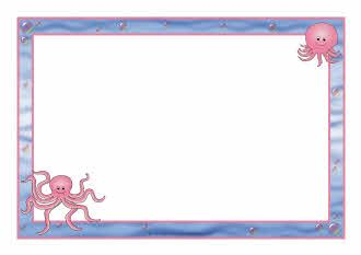 Clipart octopus border. A page borders sb
