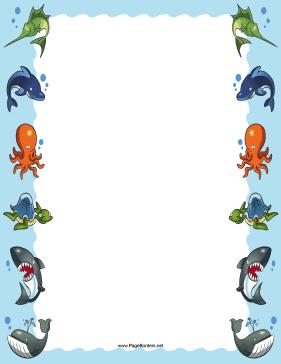 clipart octopus border