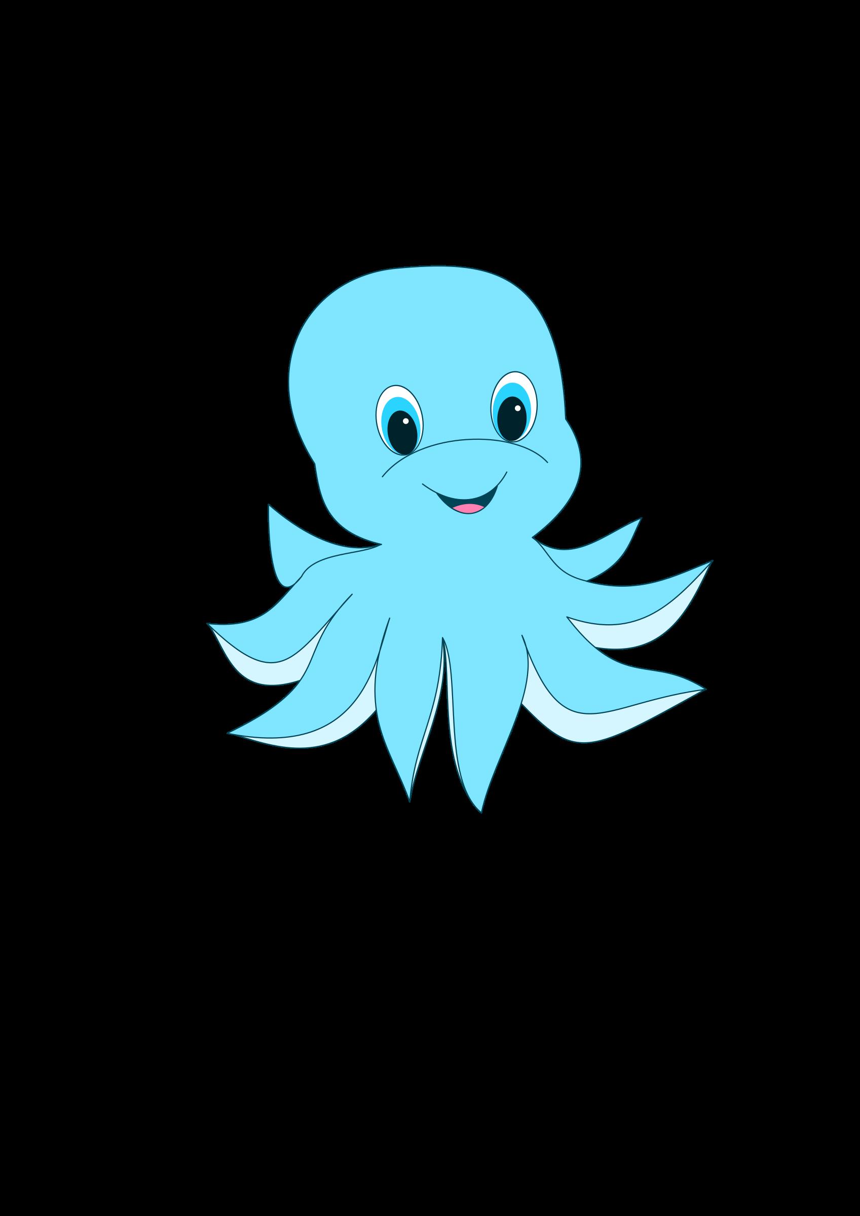 Clipart octopus cartoon. Cute big image png