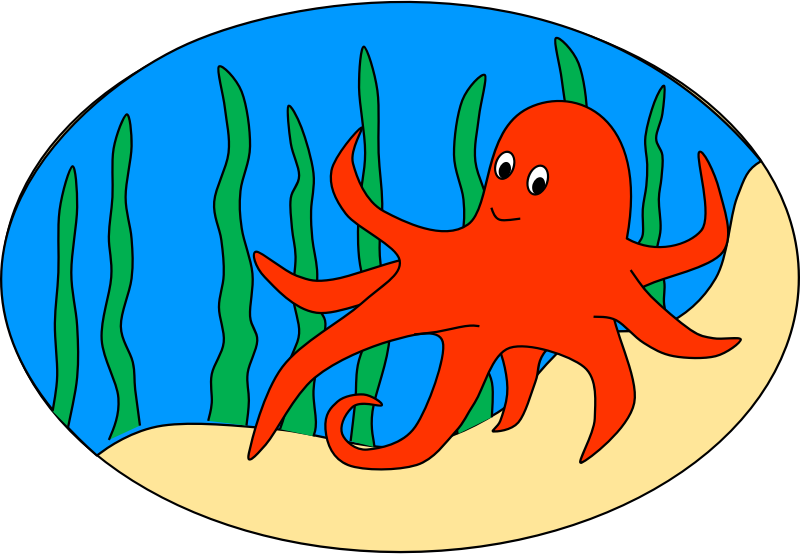 Free images clipartix . Clipart octopus clipart red