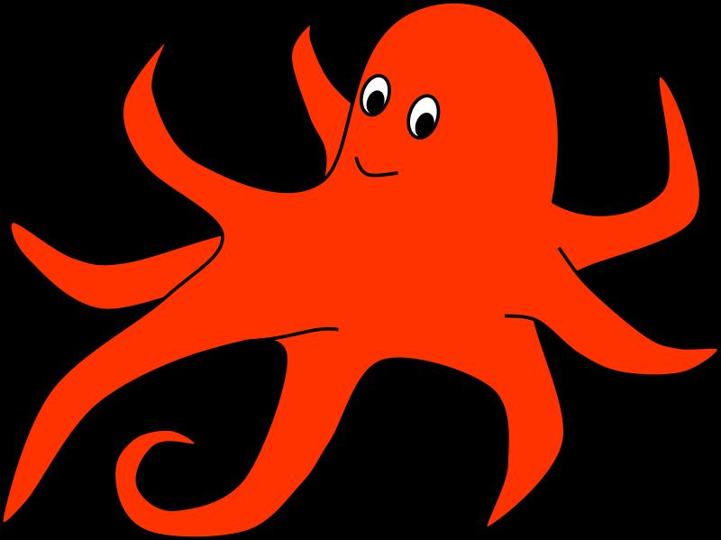 Oval of orange medium. Clipart octopus clipart red